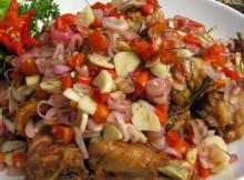 Ayam Goreng Siram Sambal Matah