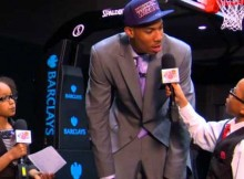 Reporter cilik mewawancarai bintang NBA