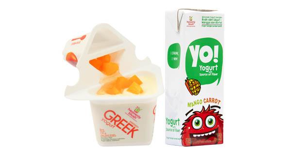 Greek style dan drinking yogurt