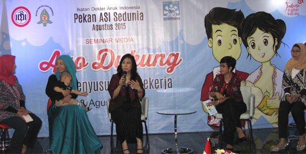 Moms berbagi pengalaman menyusui di Pekan ASI Sedunia, Jakarta