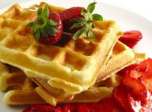 waffle buah
