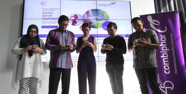 Soul healer Irma Rahayu, CEO Combiphar Bpk. Michael Wanandi, Andien, Yovie Widianto, dan dr. Andi Kurniawan SpKO berbagi Kisah Sehat Inspiratif ke dalam microsite #CelebrateHealth