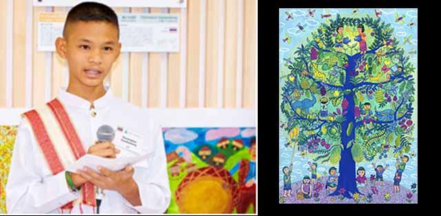 Pemenang Grand Prix 2015, Thatchaphon Kaeokamkong dari Thailand dan karyanya
