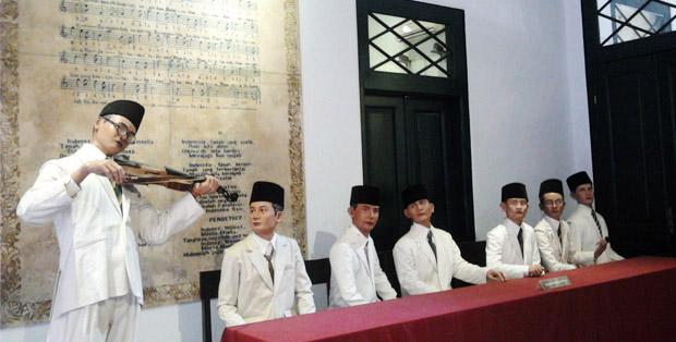 Suasana Kongres Pemuda di Museum Sumpah Pemuda