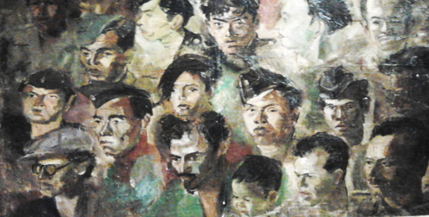 Lukisan para pejuang karya S. Sudjojono di Galeri Nasional