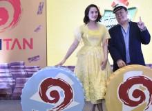 Chelsea Islan dan Mr. Ichitan saat peluncuran program Mendadak Jutawan