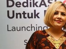 Cynthia Lamusu di peluncuran situs drrina.id
