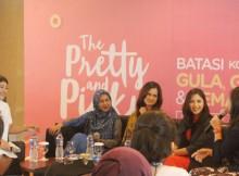 Foto : Jessica Mila, Ria Ricis dan Cut Ratu Meyriska memberikan dukungan terhadap gerakan sosial #theprettyandpicky