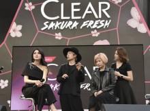 Sandra Dewi, Brand Ambassador CLEAR bersama Hisato Suzuki, Pakar Rambut asal Jepang