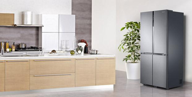 Lemari es Samsung French Door dengan Triple Cooling Plus