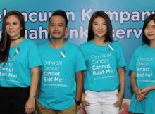 Ruben Onsu dan Sarwendah bersama Wulan Guritno dan dr. Venita saat peluncuran www.cegahkankerserviks.org dan Duta Kampanye #CegahKankerServiks
