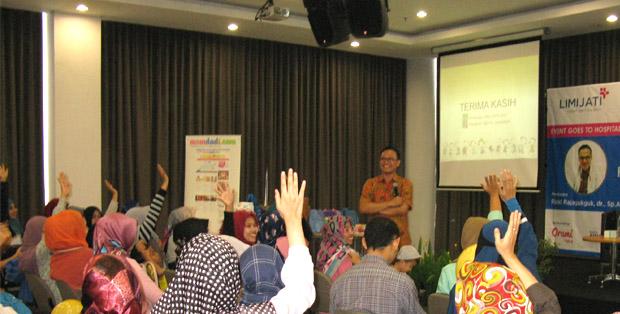 Antusias bertanya di GTH 2017 RS Limijati Bandung