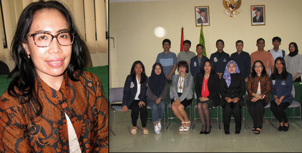 Dr. Renti Maharaini Kerti, S.H., M.H saat berkunjung bersama para mahasiswa ke BPSK Provinsi DKI Jakarta