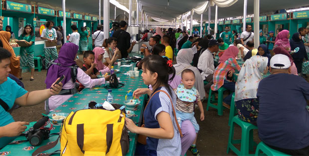 Para pencinta kuliner Nusantara sejak pagj memadati FJB 2018