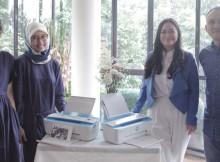 Foto kiri ke kanan : Nike Prima dan Miranti Andi, Co-Founders Living Loving, Ajeng Raviando, Psikolog Anak dan Keluarga, dan Fajar Hariyanto, Print Marketing HP Indonesia dalam Acara HP Homework Rescue Creative Workshop
