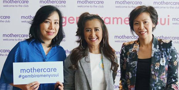dr. Elizabeth Yohmi SpA, Widi Mulia, dan Lina Paulina saat peluncuran kampanye Gembira Menyusui