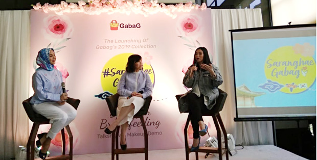 Foto : Talkshow Saranghae Gabag dalam acara Launching of Gabag's 2019 Collections