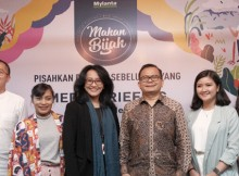 Foto : Rully Prasetyanto (Business Unit Head, PT Johnson & Johnson Indonesia); Diela Maharani (Ilustrator); Devy Yheanne (Country Leader of Corporate Communications and Public Affairs); Prof. Hardinsyah, MS, PhD. , Ketua PERGIZI Pangan Indonesia; Dinda Parameswari (Associate Brand Manager Mylanta®); Grace Yohana (Marketing Manager of Eat & Eat)