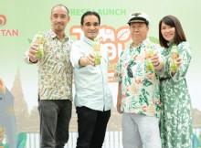 Foto (Kiri – Kanan) : Shujiro Nishida (Operational Director PT. Ichi Tan Indonesia),  Johannes Yoslin (CEO PT. Ichi Tan Indonesia), Tan Passarkornatee/Mr Ichitan (Founder and CEO ICHITAN Group PLC),  Duangkamon Ngarmsangiem (Marketing Director PT. Ichi Tan Indonesia)