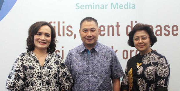 Foto pada saat seminar media Sifilis, Silent Disease, Perusak Organ