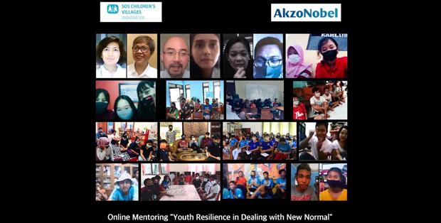 """Sesi mentoring online AkzoNobel dan SOS Children's Villages Indonesia, """"Ketangguhan Sikap dalam Menjalani 'Kenormalan Baru' pasca Covid-19"""" – 3 Juli 2020"""