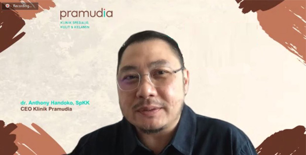 Foto : dr. Anthony Handoko, SpKK - CEO Klinik Pramudita