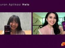 Indira Melik, Country Head of Operations Helo Indonesia & Sandra Dewi, Artis & Pengguna Helo dalam Acara Perilisan Aplikasi Helo
